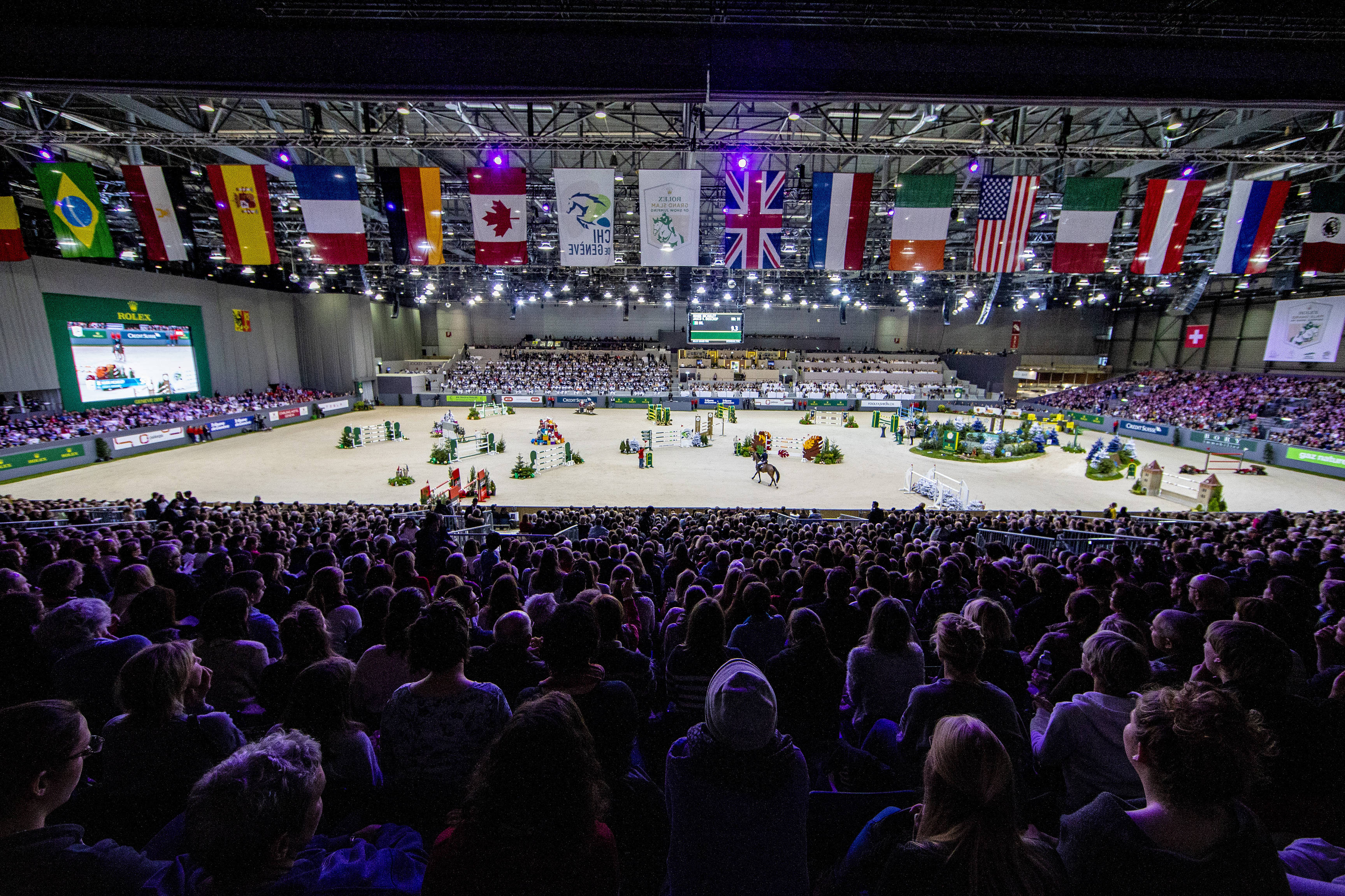 Atmosphere during the Rolex Grand Prix on December 9, 2018 in Geneva, Switzerland. (Photo by Scoop Dyga/Icon Sport)