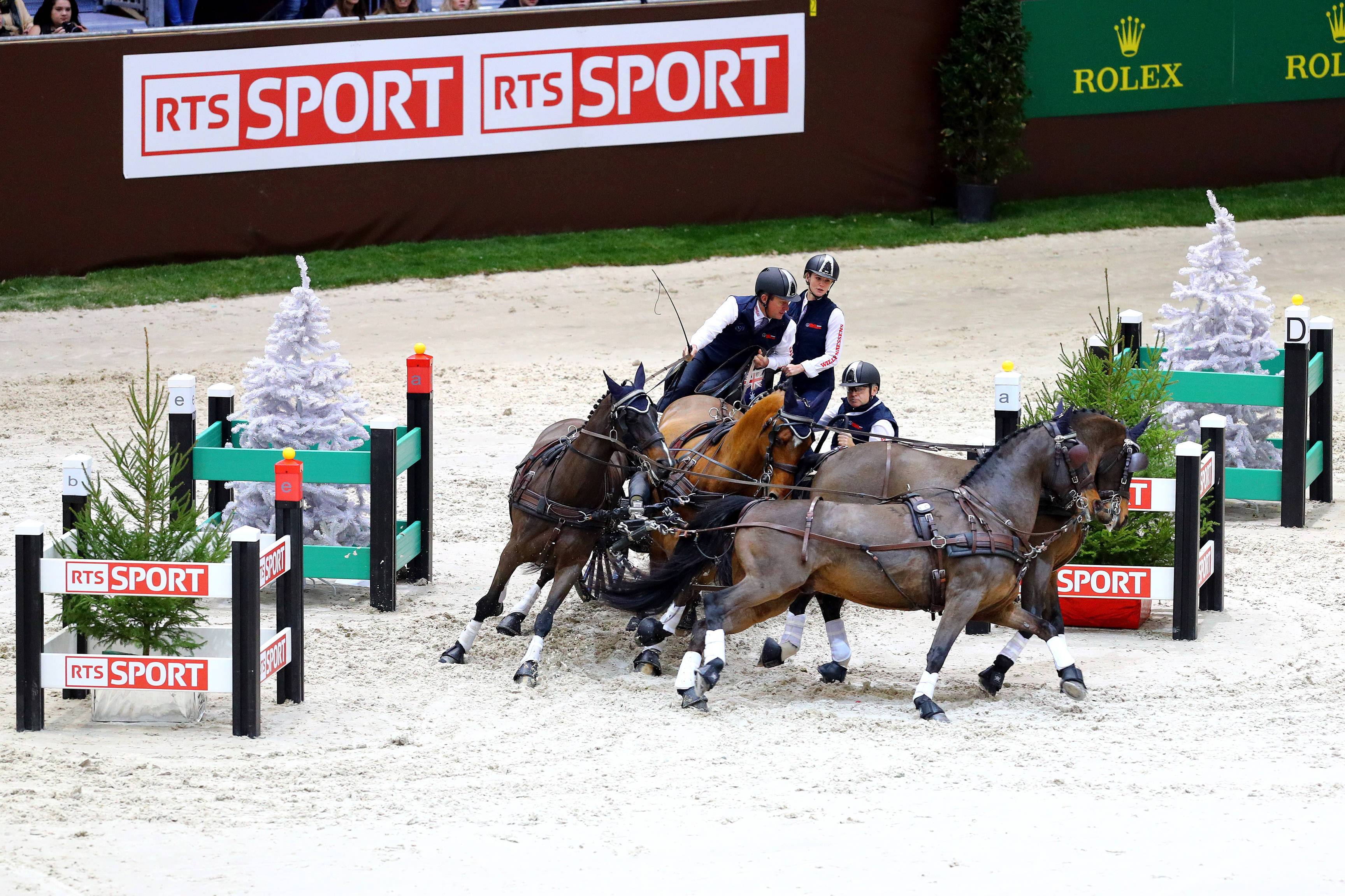 Sports Equestres10/12/2017CHI Geneve 2017 Attelage / Driving  Boyd EXELL (AUS)